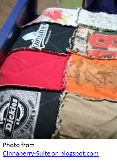 how to make a quilt from old tee shirts