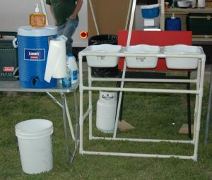 PVC Dishwashing Station